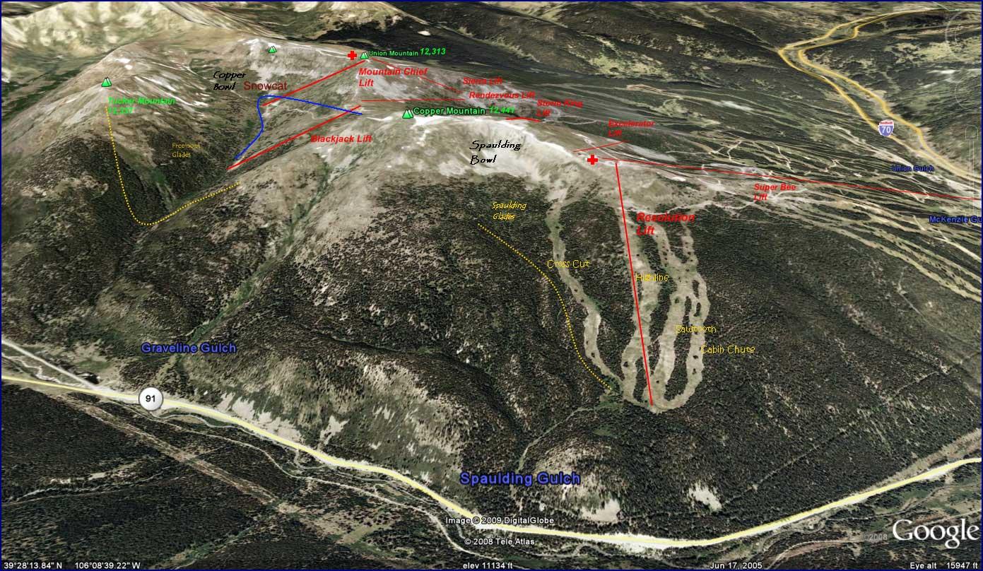 Copper Mountain trail map, Copper Mountain ski map, Copper ...
