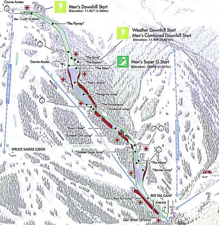 Beaver Creek Trail Map Beaver Creek Ski Map Beaver Creek Snowboard Map - Beaver creek ski trail map