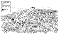 Sunlight Mountain Resort trail map