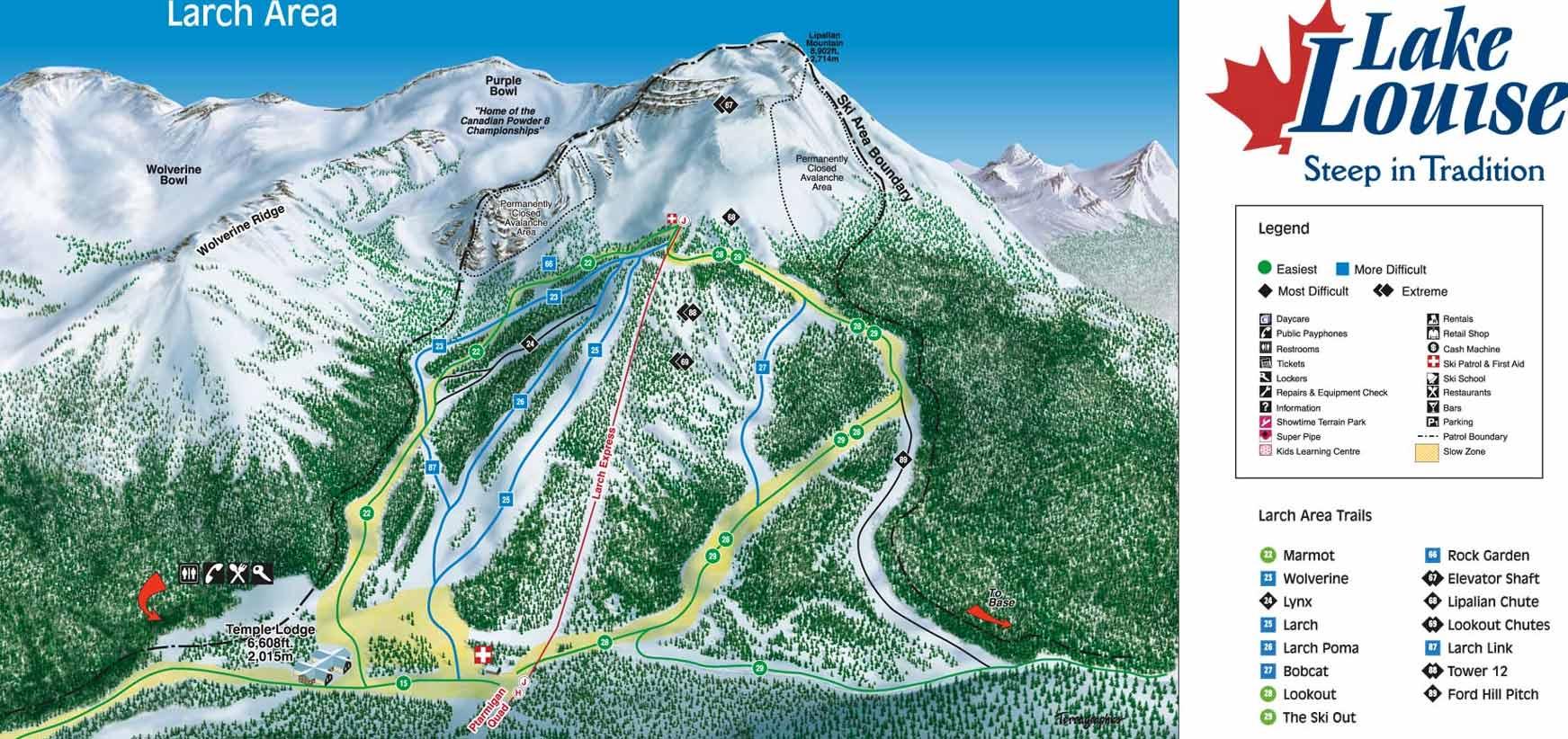 Lake Louise Ski Resort trail map, Lake Louise Ski Resort ski map ...