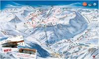 Pitztaler Gletscherbahn + Rifflseebahn trail map