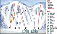Dagmar Ski Resort trail map