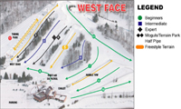 Lakeridge Ski Resort trail map