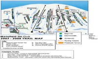 Mansfield Ski Club trail map
