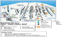 Mansfield Ski Club trail map