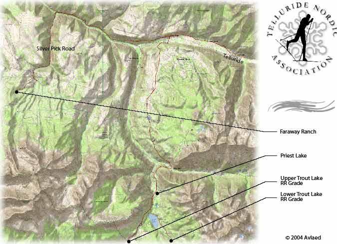 Telluride trail map, Telluride ski map, Telluride snowboard map