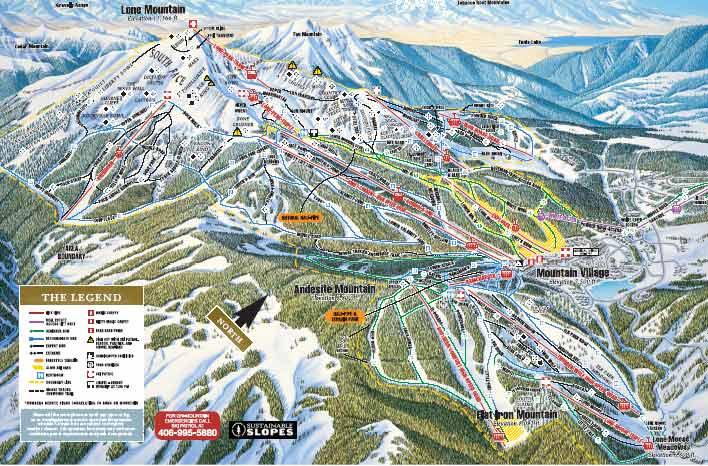 Big Sky Trail Map Big Sky Ski Map Big Sky Snowboard Map