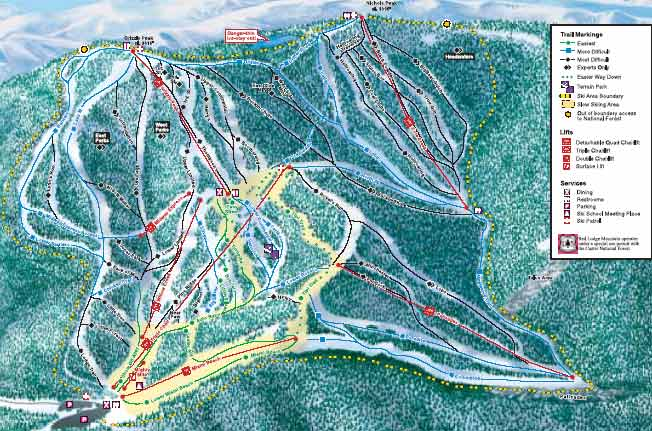 Red Lodge Mountain Trail Map Red Lodge Mountain Ski Map