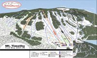 Mt. Timothy Ski Area trail map