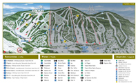 Mont Avila trail map