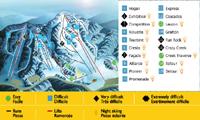 Mont Cascades trail map