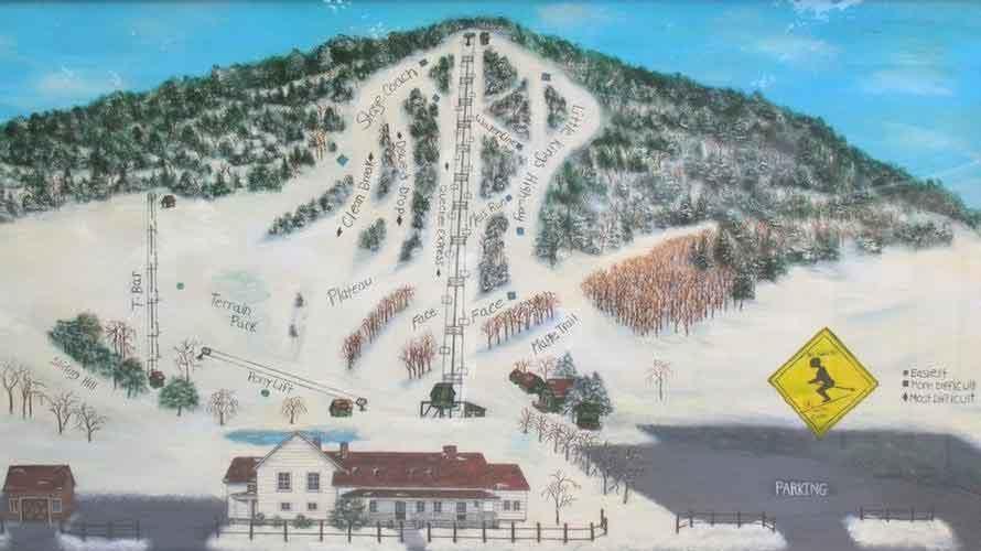 Quechee Ski Area Trail Map Quechee Ski Area Ski Map