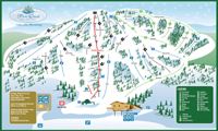 Pine Creek Ski Resort trail map