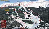 Cerro Chapelco trail map