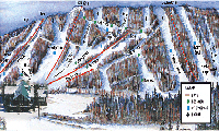 Canyon Ski Resort trail map