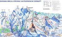 Breuil-Cervinia trail map