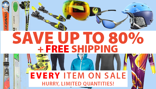 Ski gear liquidation sale - save up to 80%