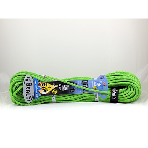 1033 - Beal Gully - 7.3mm x 60M - Green Climbing Rope sale discount price