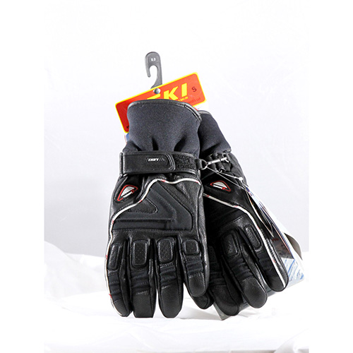 1322 - Leki Griffin S Black 8.0 Ski Gloves sale discount price