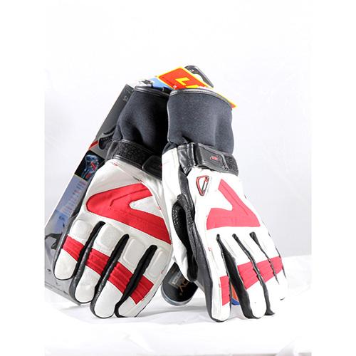 1336 - Leki Griffin White/Red/Black Ski Gloves sale discount price