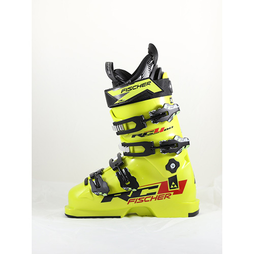 Fischer RC4 Jr 80 Ski Boots - Size 23.5 - Yellow / Black